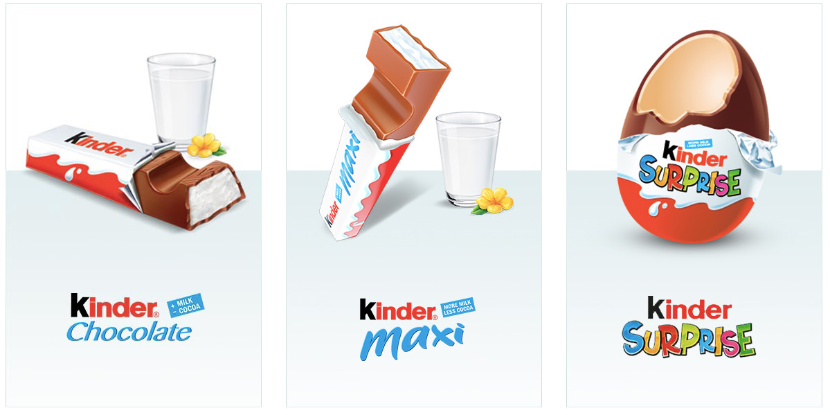 Kinder Chocolate, Maxi och Surprise